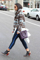 Dolce Vita jacket - Dolce Vita boots - abercrombie and fitch jeans - coach bag