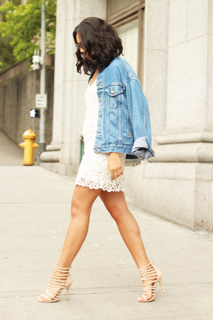 Dolce Vita dress - vintage jacket - Nasty Gal sandals