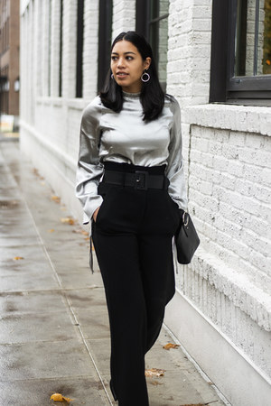 Parisa Wang bag - Aritzia pants - Pixie Market blouse