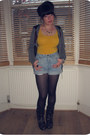 Bronze-animal-primark-necklace-black-office-boots-black-patterned-h-m-tights