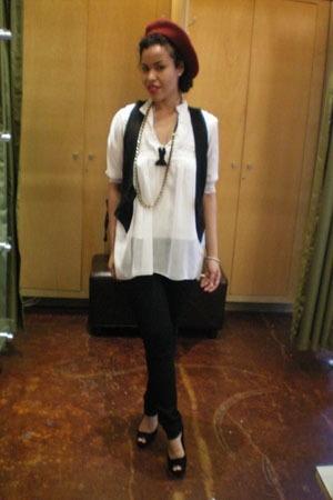 Blank jeans - blouse - random brand vest