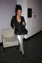 French Connection jacket - H&M top - Target leggings - peire dumas shoes