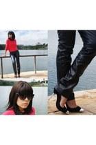 black cap toe Schutz heels