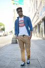5-panel-cap-asos-hat-denim-shirt-american-apparel-shirt-lookmatic-sunglasses