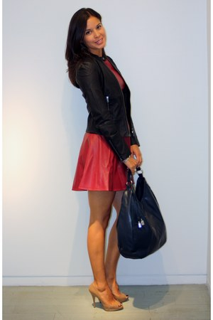 Armani Exchange dress - Armani Exchange jacket - Armani Exchange bag