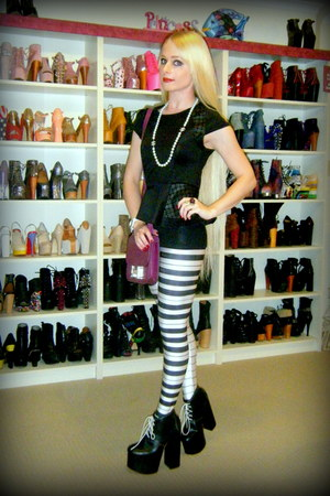 black ginger Deandri boots - white piano keys Black Milk leggings
