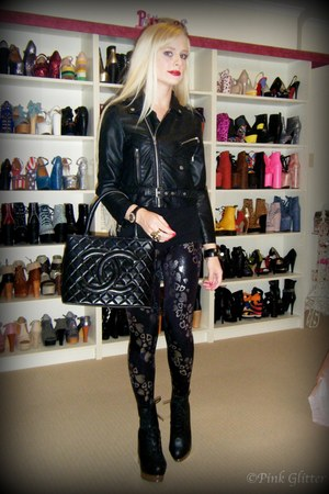 black back off Jeffrey Campbell boots - black leather crop Nasty Gal jacket