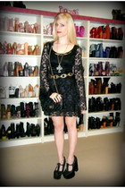 black arabella noir Black Milk dress - black vintage 255 Chanel bag