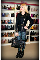 black neve Senso boots - black leather stylestalker jacket