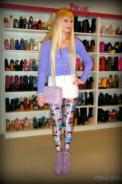 light purple lita Jeffrey Campbell boots