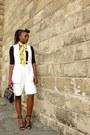 Zara-shoes-vintage-yellow-vintage-closet-scarf