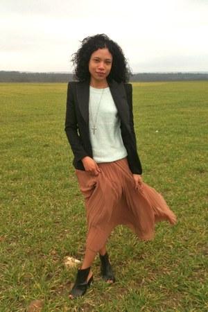 Zara skirt - dco Copenhagen boots - Queens Wardrobe jacket - Zara sweater