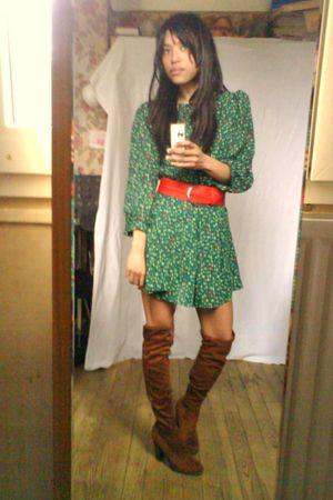 H&M dress - H&M belt - La Redoute boots