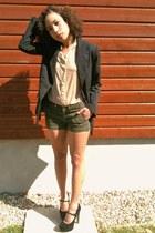 La Redoute jacket - American Apparel shirt - Mango shorts - Topshop heels