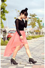 Salmon-mullet-skirt-black-lace-top-top