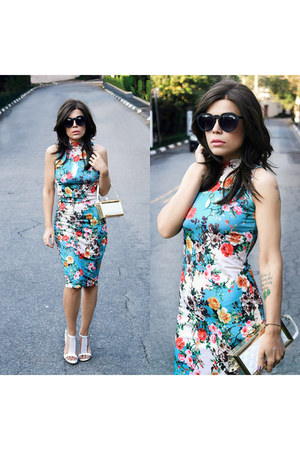 dress - bag - sunglasses - heels