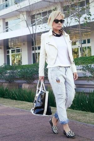 jacket - jeans - bag