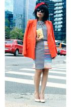 hat - blazer - sunglasses - suit - heels