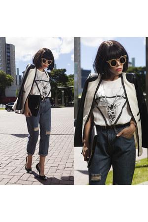 blue Wholesale7 jeans - white dresslily shirt