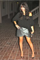 Zara skirt - Jimmy Choo shoes - American Apparel top