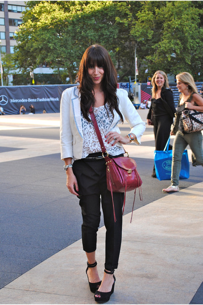 H&M top - banana republic blazer - Rebecca Minkoff bag - Gap wedges - Zara pants