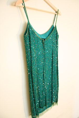 sequins green Promise To Repeat dress