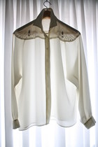 white Promise To Repeat blouse