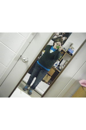 Relient K shirt - Rue 21 sweater - Rue 21 jeans - Target shoes