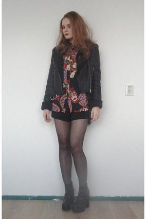 black estate platform asos boots - Oh My Love jacket