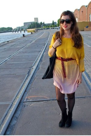 yellow Aldo dress