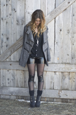 Elizbourk tights - Mercer shoes - grey whool Elizbourk jacket
