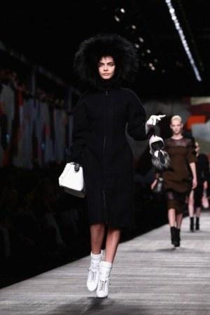 white Fendi boots - Fendi coat - white Fendi bag