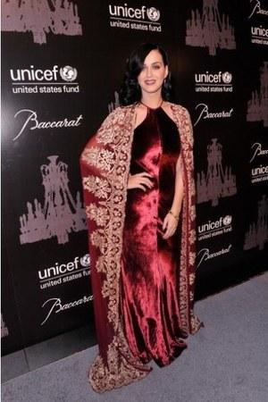 red velvet Naeem Khan dress