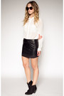 Skirt-leather-skirt