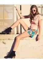 Pynk Nylon top - Pynk Nylon shorts