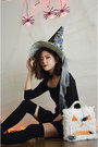 Black-boots-jeffrey-campbell-boots-black-dress-h-m-dress-witch-hat-q2han-hat