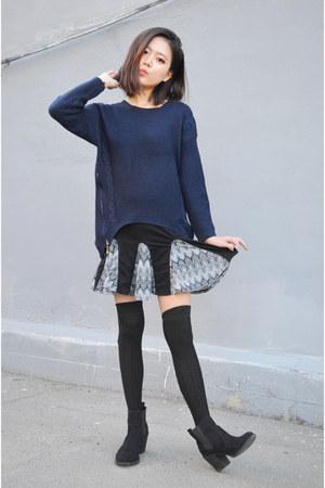 flared skirt Q2HAN skirt - sweater Breakicetrends sweater