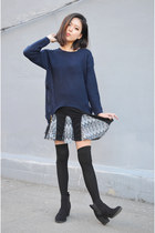 flared skirt Q2HAN skirt - sweater Breakicetrends sweater