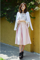 midi skirt Q2HAN skirt - white jacket CNdirect jacket