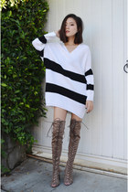 sweater dress AmiClubWear sweater - AmiClubWear boots