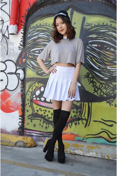 tennis skirt Q2HAN skirt - crop top Fevrie top