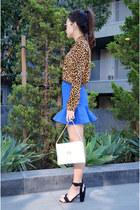 Q2HAN skirt - leopard blouse DressLink blouse