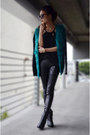 Black-top-persunmall-top-sheinside-cardigan-leather-pants-bebe-pants