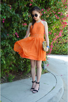 clutch bag bag - orange dress Oarry dress