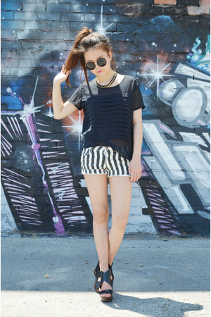 striped shorts Sheinside shorts