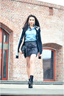 Black-varsity-american-college-jacket-black-studded-zara-boots
