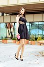 Black-cobweb-asos-dress-hot-pink-the-bag-shop-purse-black-zara-heels
