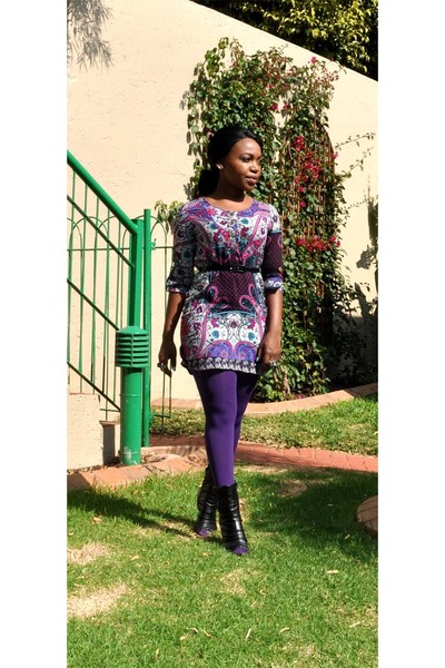 deep purple bought online dress - purple Melts tights