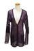deep purple Qu cashmere sweater