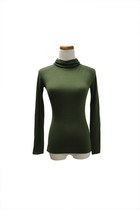 dark green QiCashmere top